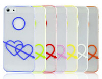 Wholesale An arrow wear heart protect case lovely case plastic case for iphone with retail box DHL