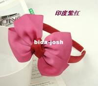 Headbands China (Mainland) Headbands Hairbands Wholesale - Freeshipping! New Girls Princess elegance simple Bow Hairband Headbands Hiar wear Hair Accessories korean Style