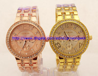 Wholesale New Arrivals women ladies rhinestone watches GENEVA alloy Watches analog digital women dress watches clock rose gold diamond watches