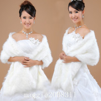 Wholesale Made in China Cheap New Bridal Short fur Wrap Cape Shawl Jackets coat wrap tippet Bridal Accessory