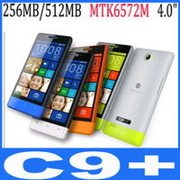 Cheap CUBOT C9+ 4.0 Inch Capacitive Screen MTK6572M Dual Core 1.2GHz Smart Phone Android 4.2 OS BT WiFi 4 colors