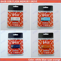 Wholesale 64GB colors USB Flash Memory Pen Drive Stick Drives Sticks Disks GB Pendrives Thumbdrives Logo