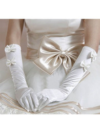 Wholesale Hot Sale Quite Elegant Elastic Satin Tie Elbow Gloves