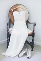 Cheap 2014 Chiffon Wedding Dress Bridal Gown Boho Beading Bridal Dress Custom Wedding Gown Wedding Dresses Floor-Length