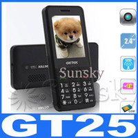 Wholesale New original GETEK GT25 Unlocked Dual SIM Bluetooth FM Bar Cell Phone Big Font Button for Elder