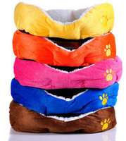 Wholesale 2014 new designer colorful softy warm pc comfortable pet dog cat Large size sweet winter house bed