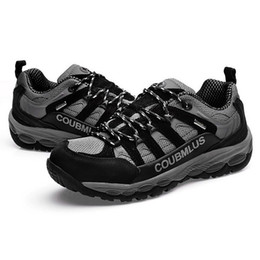 Wholesale 2014 new Hiking Shoes men athletic shoes Climbing Trekking running Equipment Waterproof Breathable color