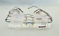 Wholesale Mega Sales Titanium Hinged Rimless Glasses Frame Prescription Spectable Eyeglasses