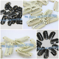 wig clips - 1000pcs hair clip wig clip metal clip snap clip for hair wig hair extension hair weft clip mm long Black brown beige color choose
