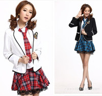 Wholesale role playing student uniforms school uniforms British uniforms Korean girls suit girls sexy clothing