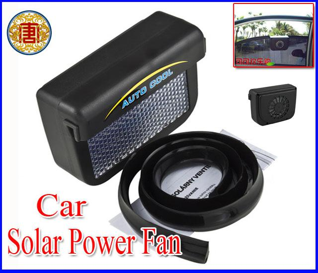 Online Cheap High Quality New Solar Powered Energy Car Auto Cool Cooling Cooler Fan Air Vent