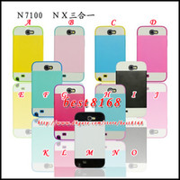 For Samsung Plastic For Christmas NX Credit Card Slot Hybrid silicone gel plastic Hard Case for Samsung Galaxy Note 2 II NOTE2 N7100 Luxury Camo skin Cover cases 35pcs 60pcs