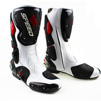 Wholesale New model motorcycle boots Pro Biker SPEED Racing Boots Motocross Boots Motorbike boots SIZE white