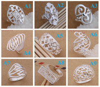 Wholesale Mixed Styles Order Fashion Sterling Silver Beautif Rings Christmas Engagement Wedding Heart Beautif Rings Christmas Sterling Silver
