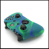 For Xbox   New soft controller case silicon rubber camouflage console case for xbox one