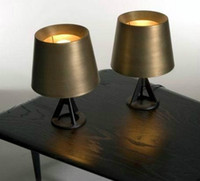 Wholesale Tom Dixon Base Series Table Lamp Tom Dixon Gold Bedside Lamp Bed Light Living Room Table Lamps