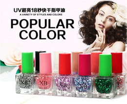 Wholesale UV Super Bright Color X B Glitter Nail Polish Lacquer Candy Color Nail Enamel Polish Nail Art Decoration DIY Nails ml Lacquer