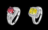 Wholesale 925 sterling silver Rings diamond piece