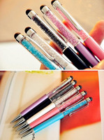 Wholesale Colorful in Swarovski Crystal Capacitive Touch Stylus Ball Pen for ipad iPhone S S C HTC Samsung i9500 note3