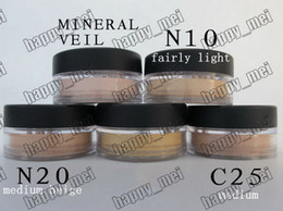 Wholesale 2014 Factory Direct Pieces New Minerals Powder Original Mineral Veil Foundation N10 N20 C25 Mineral Veil