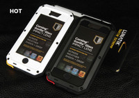 Wholesale 1 New Lunatik Taktik Extreme Case Cover Corning Gorilla Glass Aluminum Metal Case Premium Protection for iPhone S AAAAA Quality DHL