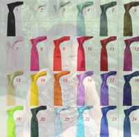 fashion yarn - Lowest price hot mens regular sized neck ties imitate silk solid color plain wedding necktie lenth