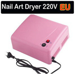 Wholesale Hot Nail Art Dryer UV Lamp UV Gel Curing W V V x w Tube Light Bulbs Light US EU AU UK Plug