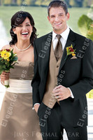 Cheap High Quality 2014 Custom made Tuxedos Wedding Groomsman Suit Groomsman Bridegroom Suits (Jacket+Pants+Tie+Vest) 005