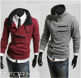 Wholesale 2012 Newest Korea Multi Zipper amp Double Standing Collar Design hoodie Thicker Cardigan W07