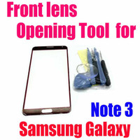 Wholesale Opening Tools and M Adhesive Front Glass Lens Outer Touch Screen Glass Cover Front Lens Replacement for Samsung Galaxy Note N9000 goodbiz