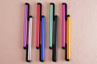 For Capacitive Screens Pens For Apple iPhone Wholesale Universal High Sensitive Capacitive Stylus Pen Screen Touch Pen For iPhone 4 5 5S IPAD Air Samsung Galaxy S4