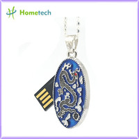 Wholesale jewelry blue usb flash drive necklace gb gb gb pen drive pendrive crystal gift hard disk gadget usb memeory