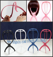 wig stand African-American Wigs  Free Shipping Plastic wig stand holder lifts hair accessories wig care products for cheap online New Fashion HOT