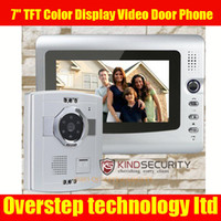 Wholesale Video Door Phone Doorbell Intercom System IR Camera Monitor quot TFT Color Display