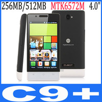 4.0 Android 256M new 4 inch 800*480 CUBOT C9+ MTK 6572m dual sim card android capacitive touch screen 2.0M camera smart phone