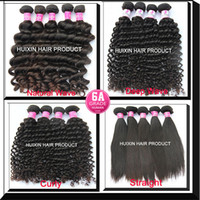 Wholesale Unprocessed Malaysian Brazilian Indian Peruvian Cambodian Virgin Hair Weave Bundle Natural Deep Wave Curly Straight Hair Extensions A