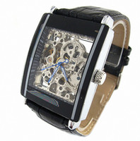 Wholesale Luxury Watch Black Men Watch leather Wristwatches New Design Fashion watch Mechanical Watches New Design mechanical watch Good Quality