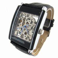 Wholesale Luxury Watch Black Men Watch leather Wristwatches New Design Fashion watch Mechanical Watches New Design mechanical watch Good Quality