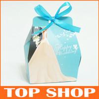 Wholesale Favor Holders Blue Candy Boxes Paper S M Wedding Box HQ0011