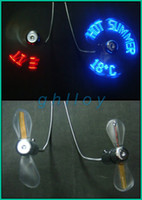 Wholesale New Usb Fans Mini USB Fan Portable Folding Fan LED Light Fan Cooler For laptop PC Computer