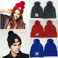 knit wear - CARHARTT Beanies Pom Pom Beanies Knit Beanies Popular Snapbacks Hats Caps Winter Street Wear Beanies Accept Mix Order