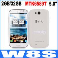 THL W8S 5,0 pulgadas MTK6589T Pantalla FHD Quad Core 2GB / 32GB 12.0mp Android 4.2 OS con 3G GPS Blanca