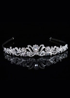 Wholesale Classic White Metal Diamond Crystal Wedding Tiara bridal headpieces r16 u6 JjI
