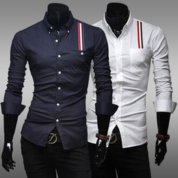 Wholesale 2014 spring fashion turn down collar men s cotton business casual polo shirts long sleeve small flower dress shirt