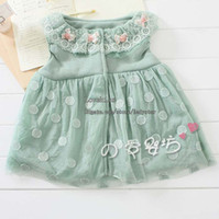 TuTu Spring / Autumn Pleated Baby Polka Dot Dresses Children Clothing Jumper Skirt Infant Dress Girls Lace Collar Dresses Pleated Dress Kids Clothes Princess Dresses