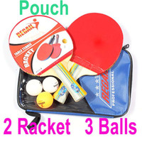 Wholesale Table Tennis Set Racket Ball Racket Pouch Long Handle Shake hand Ping Pong Paddle Balls Sports Accessories