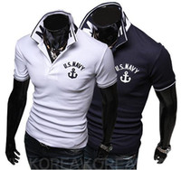 Men Cotton Polo Free shipping 2014 new arrvial sport mens polo shirts short sleeve lapel-neck and lette tee shirt M-XXL D13