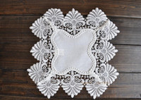 Wholesale Fasgion Simple and Elegant Table Napkin Special White Lace Doily Placemat Fedex