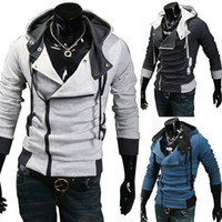 korean men fashion - New Assassin s Creed III Desmond Miles Cosplay Costume Hoodie Coat Jacket Fashion Korean Men s Hoodies Sweatshirt Slim Stylish Casual Card