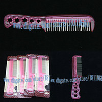 African-American Wigs plastic hair comb - Loop brushes steel comb For wigs Top Quality Plastic Hair Brush Wig Combs Pink color Hair Accessories
